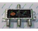 Splitter 3-WAY VOTO VT01-03 5-2400MHz (ALL PORTS POWER PASS BZT GERMANY)