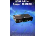 HDMI Split 1x4 UHD 4Kx2K 4 port HDMI V1.4 + Блок питания 5 V