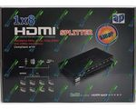 HDMI Split 1x8 Full HD 8 port 3D HDMI V1.4 + Блок питания 5 V
