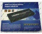 HDMI Switch/Splitter 2x4 HD-S244A