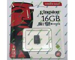 карта памяти microSDHC KINGSTON 16Gb Class 10