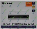 Сетевой SWITCH TENDA S16 (16-PORT Desktop Unmanaged 10/100M Switch)