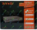 Сетевой SWITCH TENDA TEF1016D (16-PORT Desktop/Rackmnt Unmanaged 100Mb Switch)