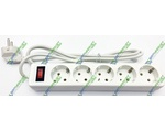 Удлинитель DEFENDER 1,8 m, 5 socket, ES, White