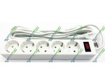Удлинитель DEFENDER 5 m, 5 socket, ES, White
