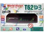 World Vision T62D3 цифровой эфирный DVB-T2 ресивер