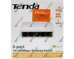 Сетевой SWITCH TENDA S105 (5-PORT 10/100Mbps)