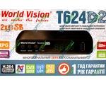 Купить World Vision T624 D2 цифровой эфирный DVB-T2 ресивер. Цена на World Vision T624 D2 цифровой эфирный DVB-T2 ресивер в Киеве, Харькове, Одессе, Днепропетровске, Одессе, Львове: обзор, отзывы, описание, продажа