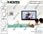 HDMI Splitter 1x2 Full 2port HDMI V1.4 + Блок питания 5V (4-0003)