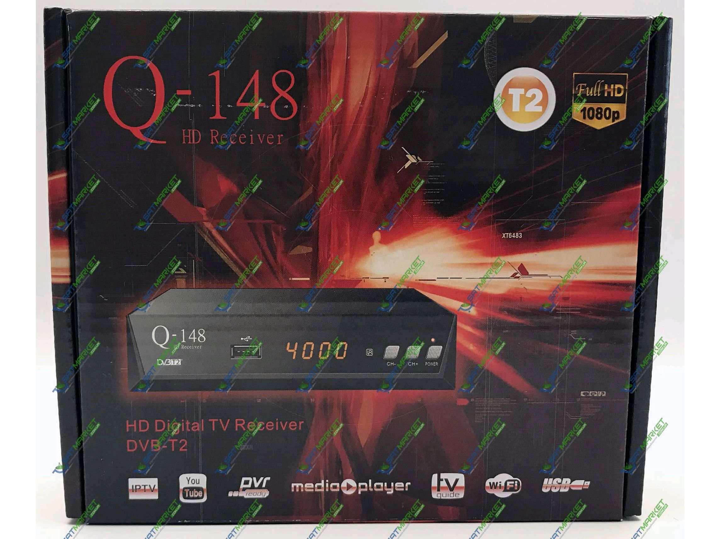 Купить Q-SAT Q-148 цифровой эфирный DVB-T2 ресивер  Цена на Q-SAT Q